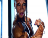 Virginia Sanchez,Ifbb pro athlete - Close up pumping - Video