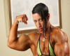 Virginia Sanchez,Ifbb pro athlete - Green bikini