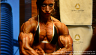 Virginia Sanchez,Ifbb pro athlete - biceps pumping